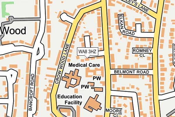 WA8 3HZ map - OS OpenMap – Local (Ordnance Survey)