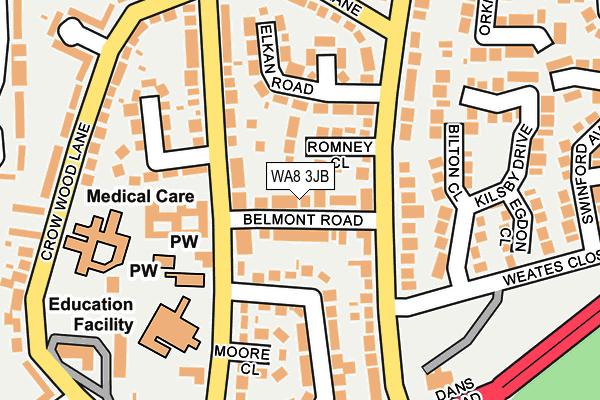 WA8 3JB map - OS OpenMap – Local (Ordnance Survey)