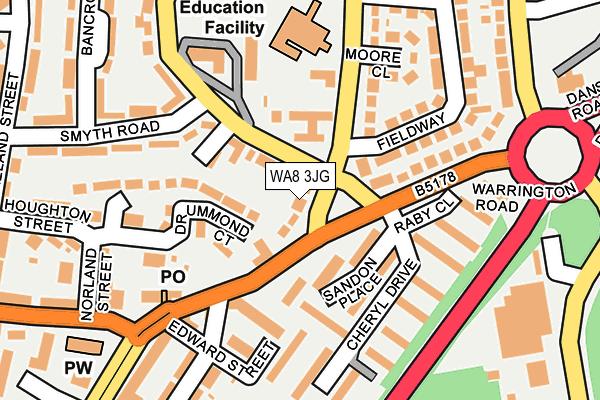 WA8 3JG map - OS OpenMap – Local (Ordnance Survey)