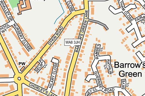 WA8 3JH map - OS OpenMap – Local (Ordnance Survey)
