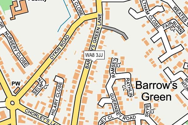 WA8 3JJ map - OS OpenMap – Local (Ordnance Survey)