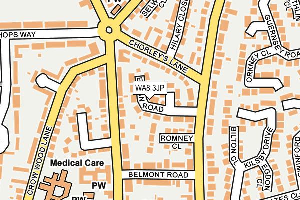 WA8 3JP map - OS OpenMap – Local (Ordnance Survey)