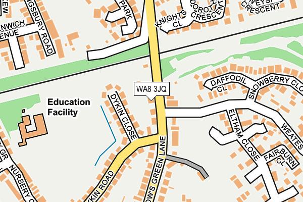 WA8 3JQ map - OS OpenMap – Local (Ordnance Survey)