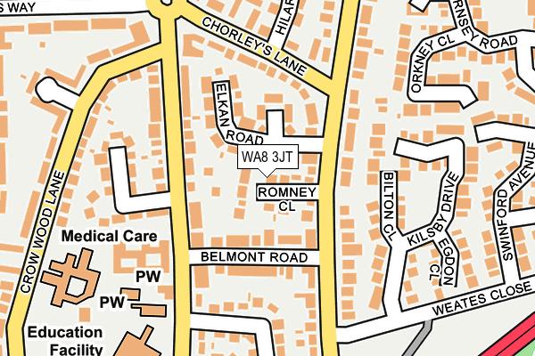 WA8 3JT map - OS OpenMap – Local (Ordnance Survey)