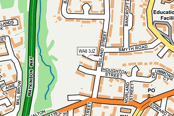 WA8 3JZ map - OS OpenMap – Local (Ordnance Survey)