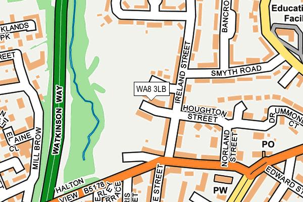 WA8 3LB map - OS OpenMap – Local (Ordnance Survey)