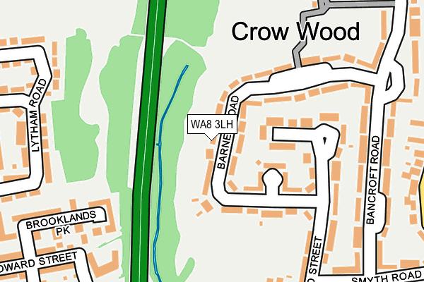 WA8 3LH map - OS OpenMap – Local (Ordnance Survey)