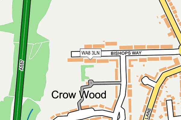 WA8 3LN map - OS OpenMap – Local (Ordnance Survey)