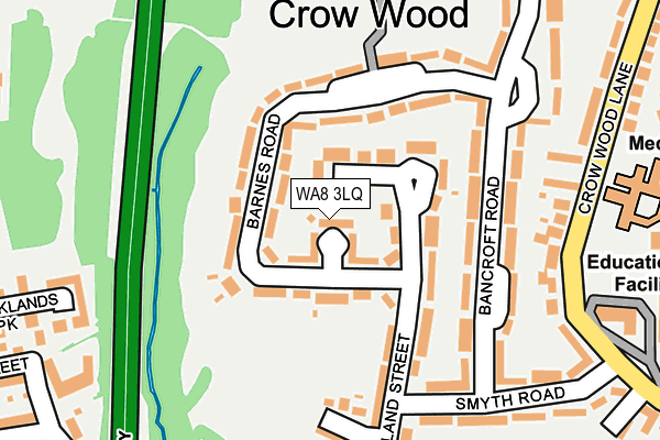 WA8 3LQ map - OS OpenMap – Local (Ordnance Survey)
