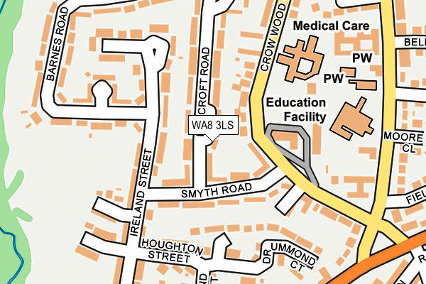 WA8 3LS map - OS OpenMap – Local (Ordnance Survey)