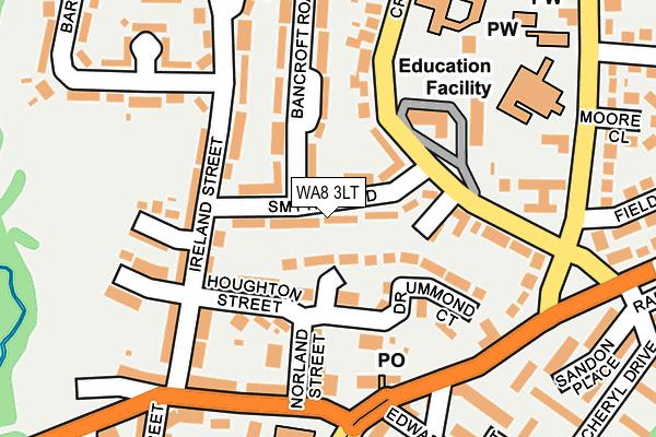 WA8 3LT map - OS OpenMap – Local (Ordnance Survey)
