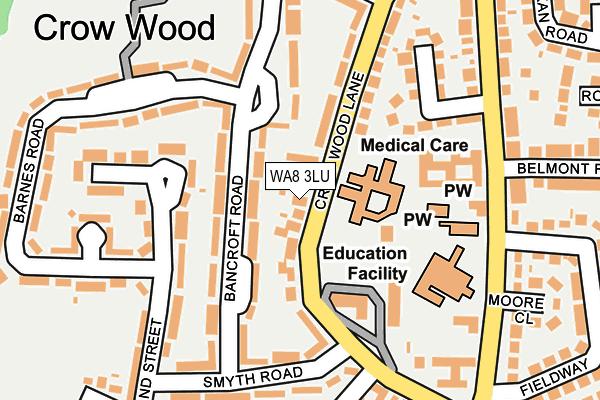 WA8 3LU map - OS OpenMap – Local (Ordnance Survey)