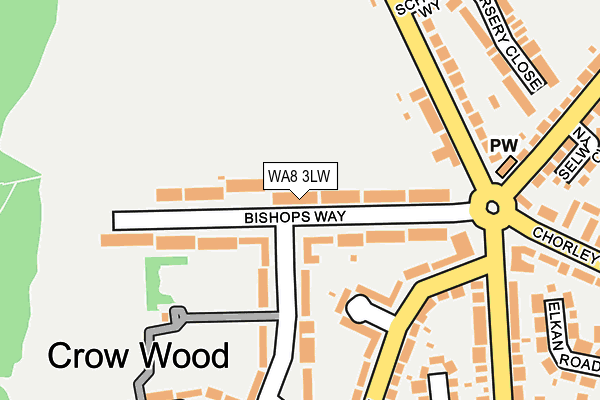 Map of A B BET LTD at local scale