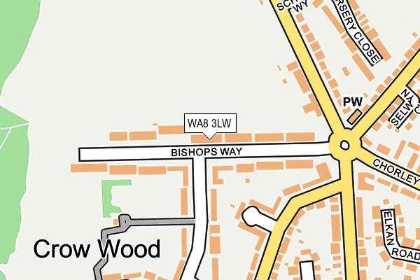 WA8 3LW map - OS OpenMap – Local (Ordnance Survey)