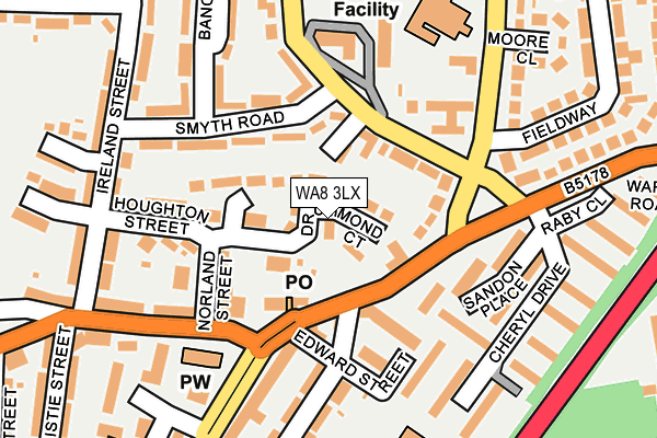 WA8 3LX map - OS OpenMap – Local (Ordnance Survey)