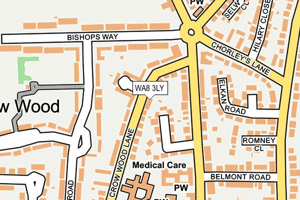 WA8 3LY map - OS OpenMap – Local (Ordnance Survey)