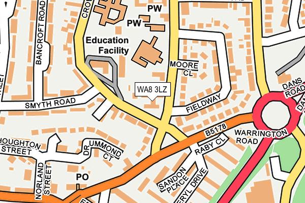 WA8 3LZ map - OS OpenMap – Local (Ordnance Survey)