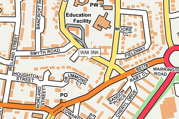 WA8 3NA map - OS OpenMap – Local (Ordnance Survey)