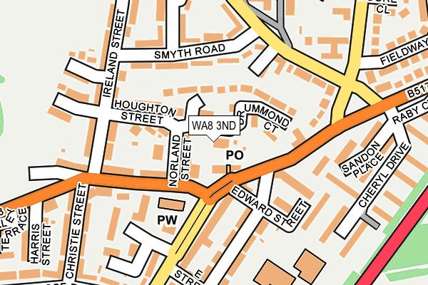 WA8 3ND map - OS OpenMap – Local (Ordnance Survey)
