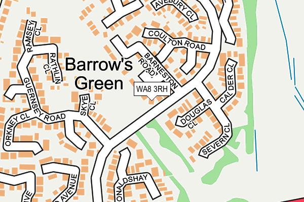 WA8 3RH map - OS OpenMap – Local (Ordnance Survey)