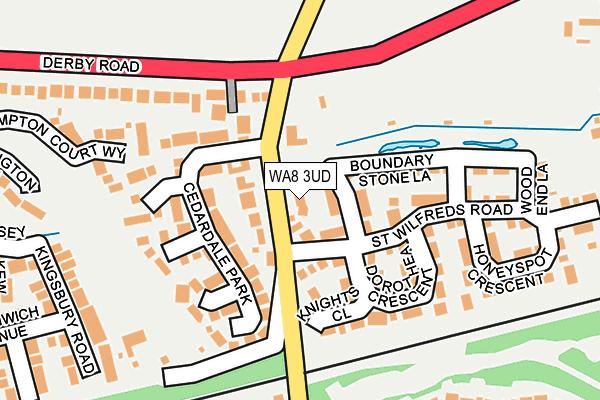 WA8 3UD map - OS OpenMap – Local (Ordnance Survey)