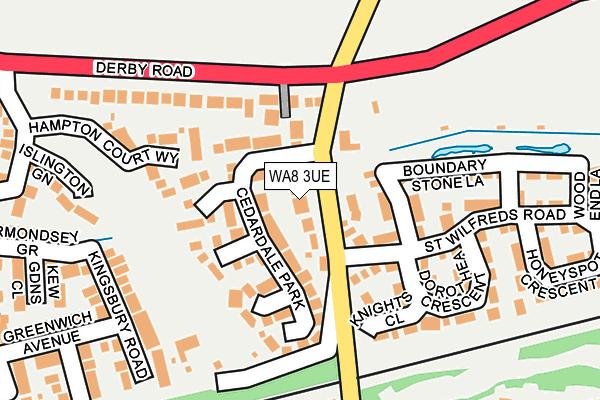 WA8 3UE map - OS OpenMap – Local (Ordnance Survey)