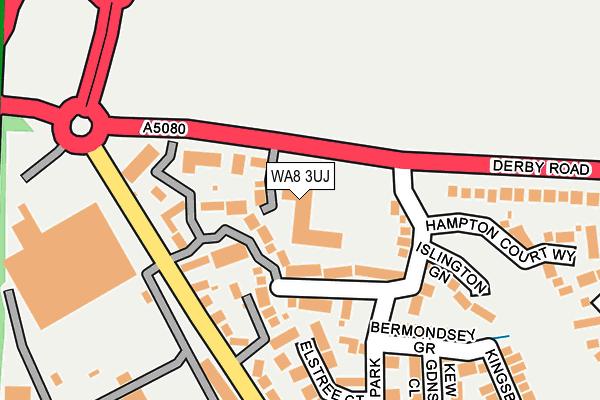 WA8 3UJ map - OS OpenMap – Local (Ordnance Survey)