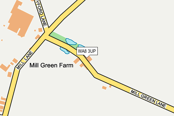 WA8 3UP map - OS OpenMap – Local (Ordnance Survey)