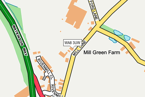 WA8 3UW map - OS OpenMap – Local (Ordnance Survey)