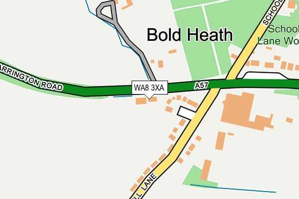 WA8 3XA map - OS OpenMap – Local (Ordnance Survey)