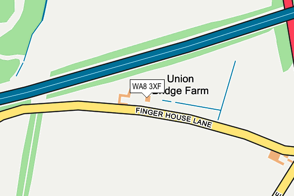 WA8 3XF map - OS OpenMap – Local (Ordnance Survey)