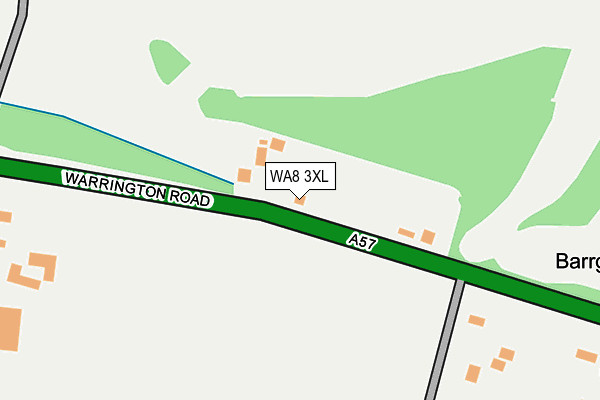 WA8 3XL map - OS OpenMap – Local (Ordnance Survey)