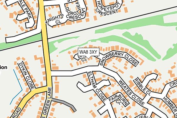 WA8 3XY map - OS OpenMap – Local (Ordnance Survey)