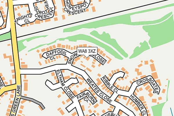 WA8 3XZ map - OS OpenMap – Local (Ordnance Survey)