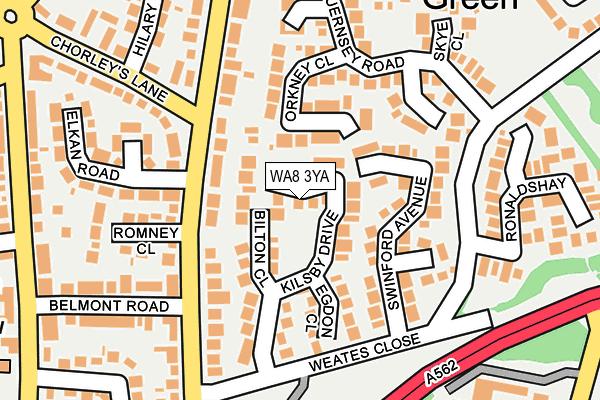 WA8 3YA map - OS OpenMap – Local (Ordnance Survey)