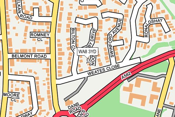 WA8 3YD map - OS OpenMap – Local (Ordnance Survey)