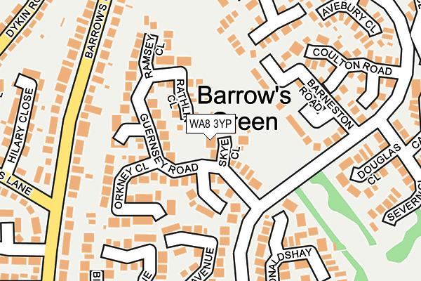 WA8 3YP map - OS OpenMap – Local (Ordnance Survey)