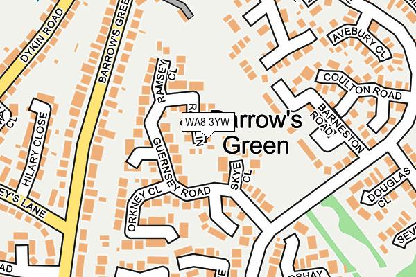 WA8 3YW map - OS OpenMap – Local (Ordnance Survey)