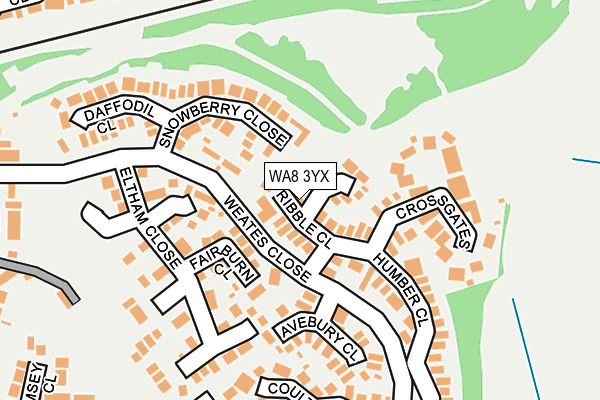 Map of RIBBLE PRESTIGE ESTATES LIMITED at local scale