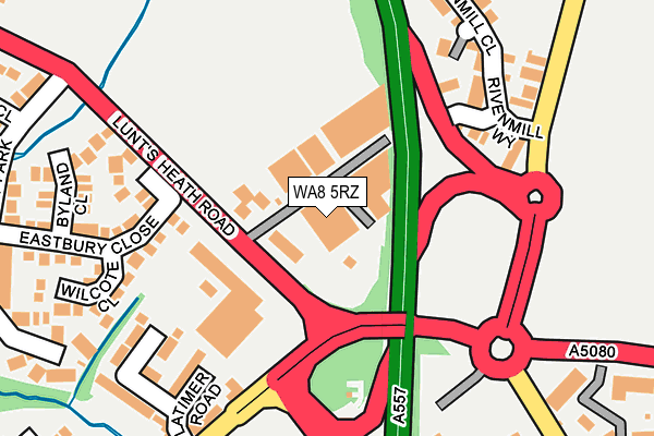 WA8 5RZ map - OS OpenMap – Local (Ordnance Survey)