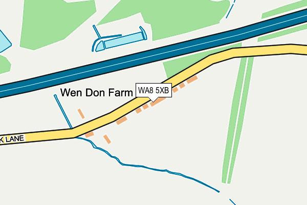 WA8 5XB map - OS OpenMap – Local (Ordnance Survey)