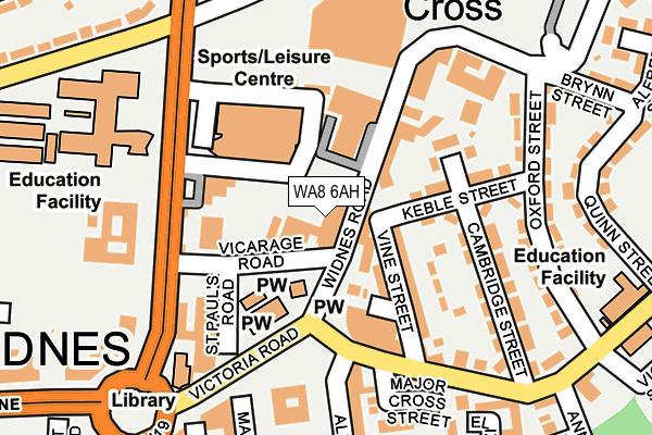 WA8 6AH map - OS OpenMap – Local (Ordnance Survey)