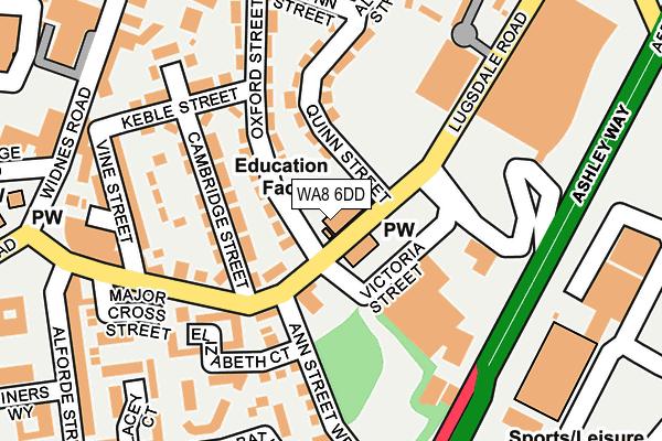 WA8 6DD map - OS OpenMap – Local (Ordnance Survey)