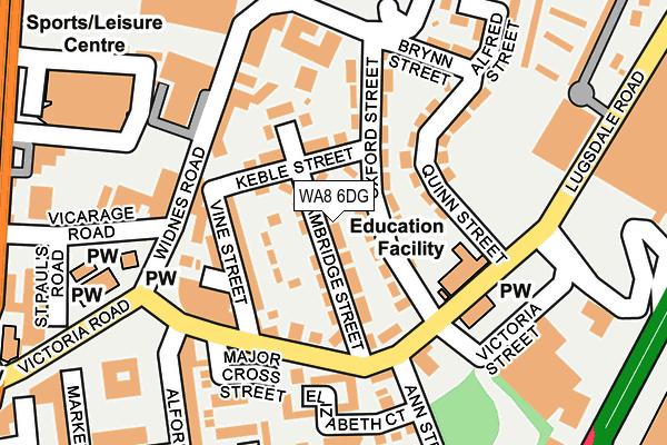 WA8 6DG map - OS OpenMap – Local (Ordnance Survey)
