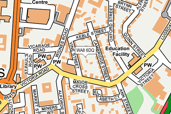WA8 6DQ map - OS OpenMap – Local (Ordnance Survey)