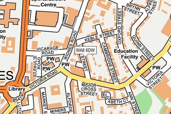 WA8 6DW map - OS OpenMap – Local (Ordnance Survey)