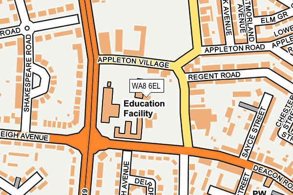 WA8 6EL map - OS OpenMap – Local (Ordnance Survey)