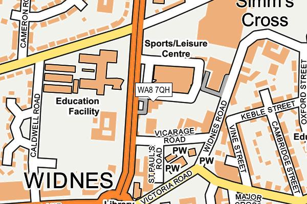 WA8 7QH map - OS OpenMap – Local (Ordnance Survey)