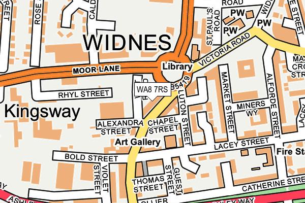 WA8 7RS map - OS OpenMap – Local (Ordnance Survey)
