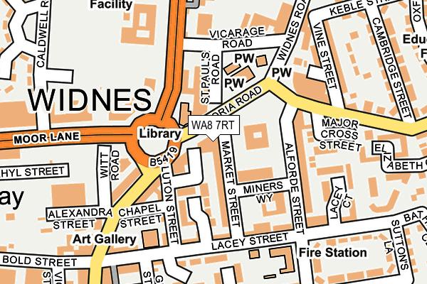 WA8 7RT map - OS OpenMap – Local (Ordnance Survey)